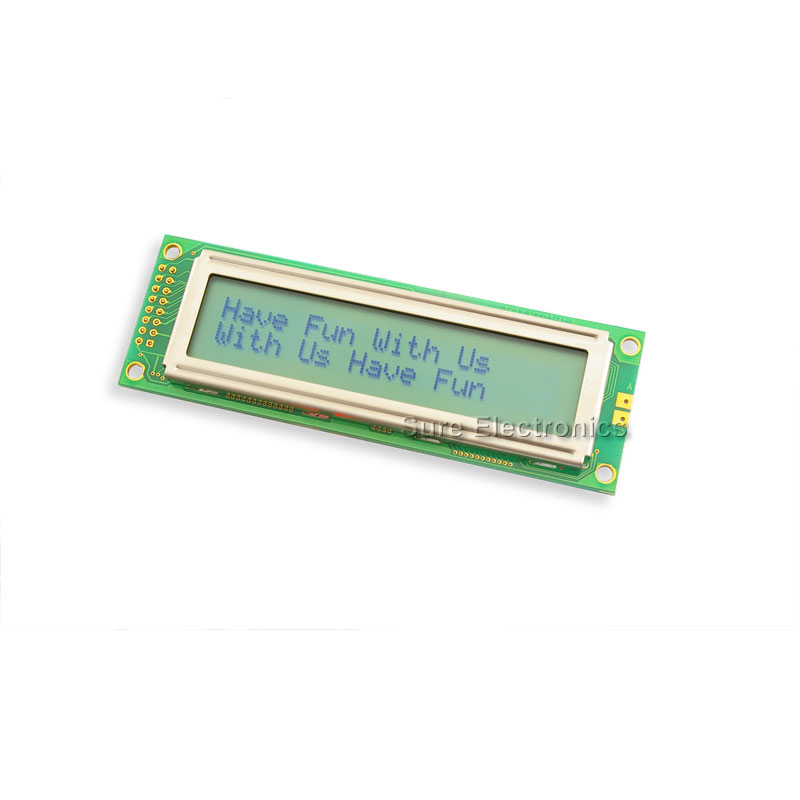 2002 Characters LCD Module no Backlight & black character