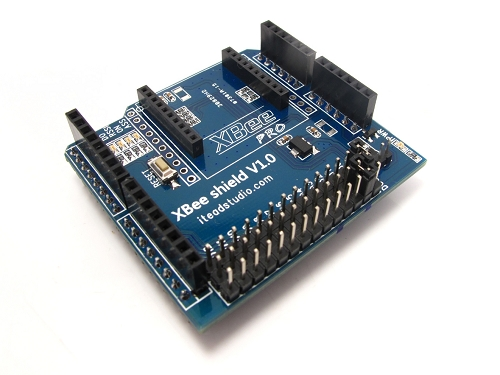 XBee Shield v1.1 : Enhanced XBee breakdout for Arduino