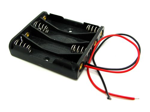 4x AA Square Battery Holder