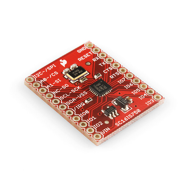SC16IS750 I2C/SPI-to-UART Breakout Board