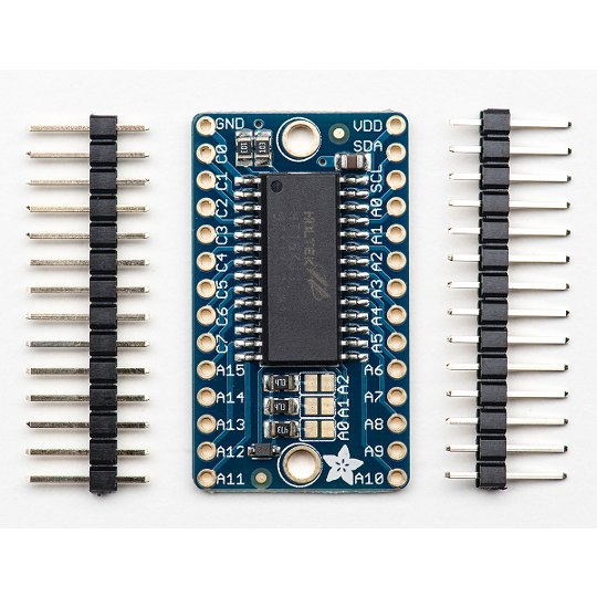 16x8 LED Matrix Driver Backpack - HT16K33 Breakout