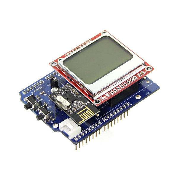 Energy Monitor Shield w/ Nokia 5110 LCD Screen
