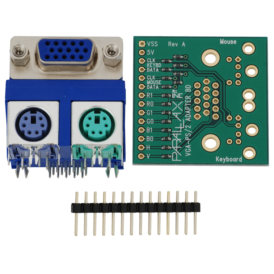Propeller VGA-PS/2 Adapter Board Kit