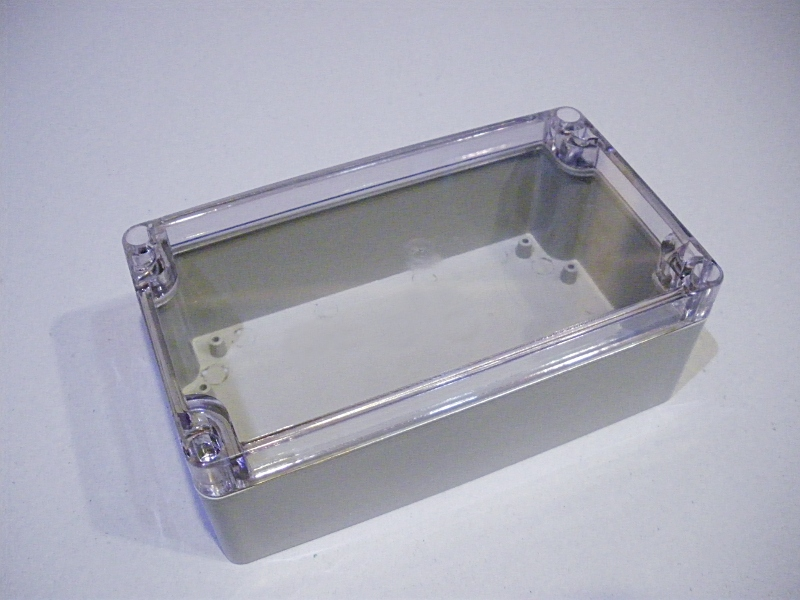 Waterproof ABS enclosure w/ transparent cover F2-P1 158x90x60mm
