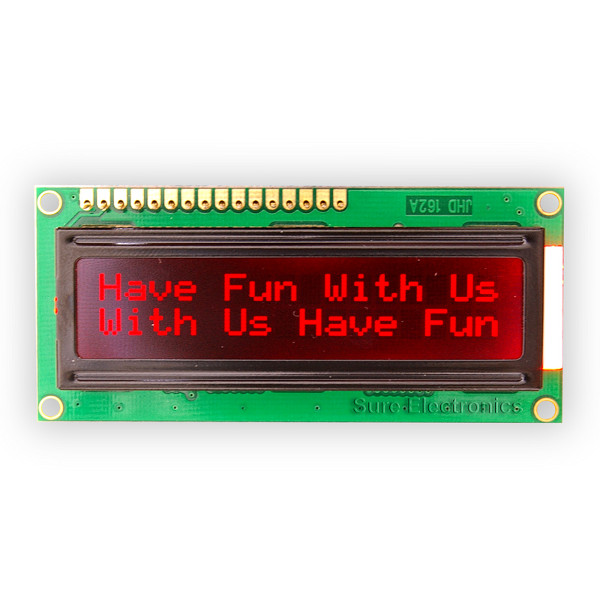 1602 LCD Module red Characters black Backlight HD44780