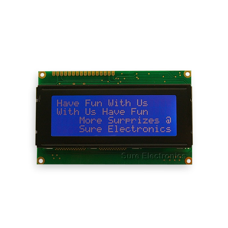 20X4 Character LCD White on Blue HD44780