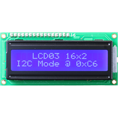 1602 LCD white characters, blue backlight I2C/serial