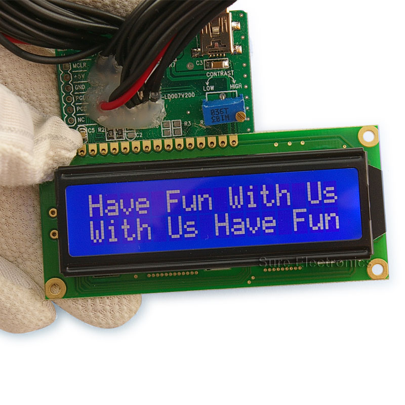 1602 LCD Module white Characters, blue Backlight