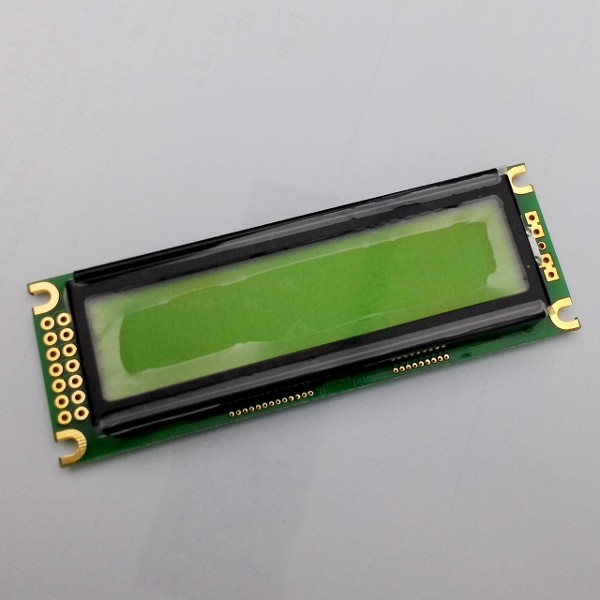 1602 LCD Module black Characters, apple-green Backlight