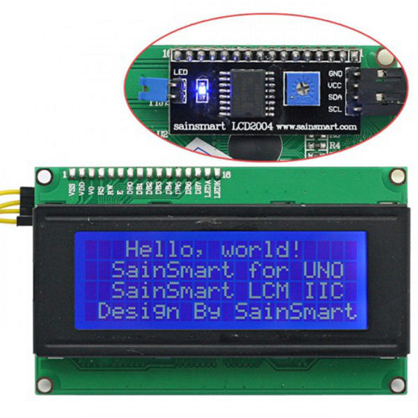 2004 LCD Module white characters blue backlight I2C