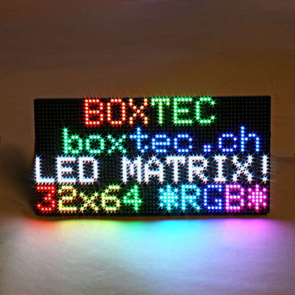64x32 RGB LED Matrix - 3mm Abstand