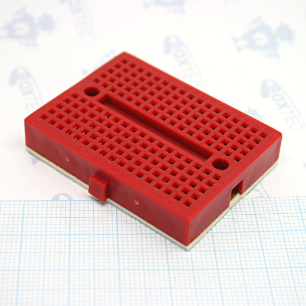 Mini Breadboard 4.5x3.5cm Red