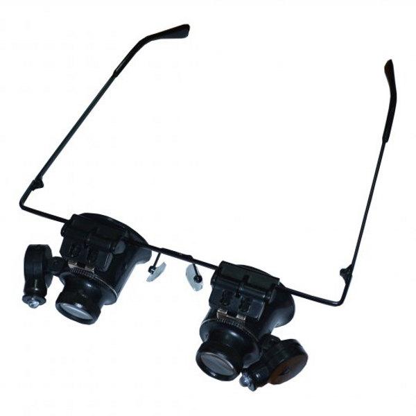 Lupen Brille - beleuchtet