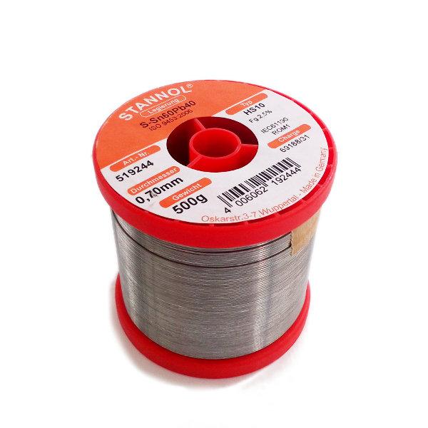 Stannol Solder HS10 Sn60/Pb40 0.7mm (500g)