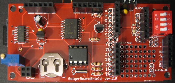 DIY Geiger Counter Logging Shield B (GS-B)