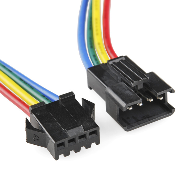 RGB LED Strip - Pigtail Connector 9.5cm (pair)