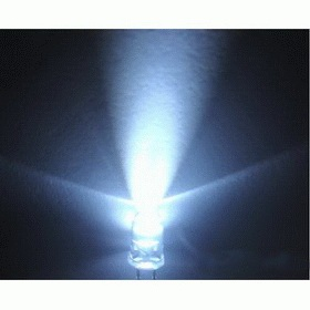 3mm LED white - clear (10pcs)