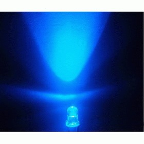 3mm LED blue, clear (10pcs)