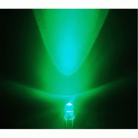 3mm LED green, clear (10pcs)