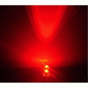 3mm LED red, clear (10pcs)