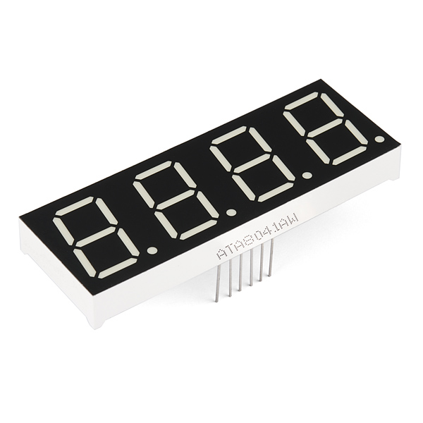 "7-Segment Display - 1"" Tall (White)"