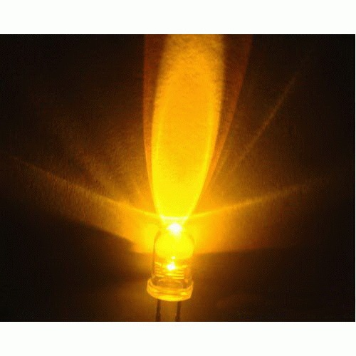 5mm LED yellow, clear (10pcs)
