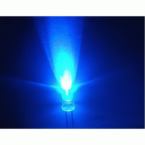 5mm LED blue, clear (10pcs)