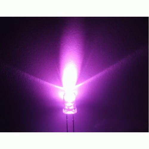 5mm LED pink, clear (10pcs)