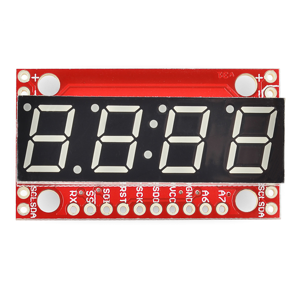 7-Segment Serielles Display - Blau