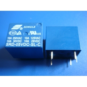 Mini 5V DC Power Relay SRD-5VDC-SL-C