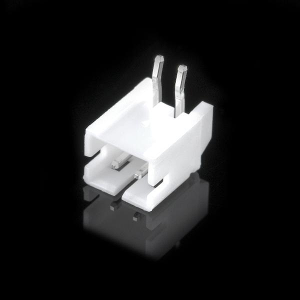 JST 2-Pin 90° Stecker 2mm zur Durchsteckmontage