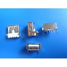 USB Female Type A Socket - THT