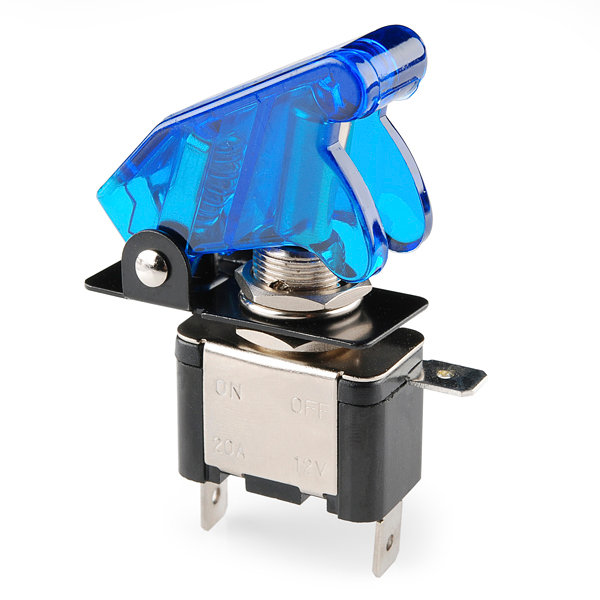 Missile Switch with Cover - Illuminated (blue)