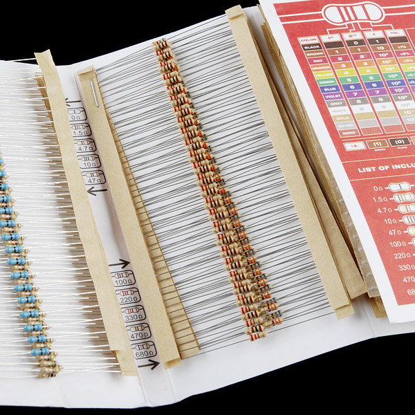 Resistor Kit - 1/4W (500 pcs)