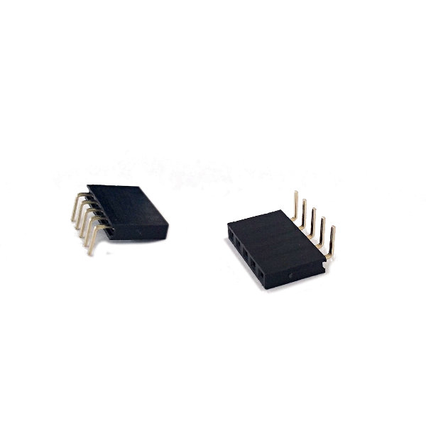 Headers female 1x5Pin 90�