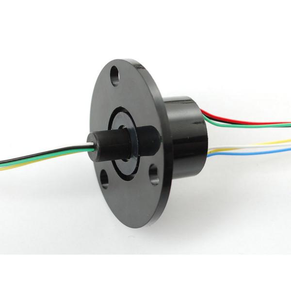 Schleifring mit Flansch - 22mm Durchmesser, 6 Leitungen