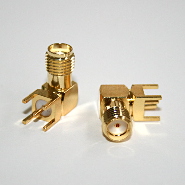 SMA PCB RF Antenna Connector (F) - 90�