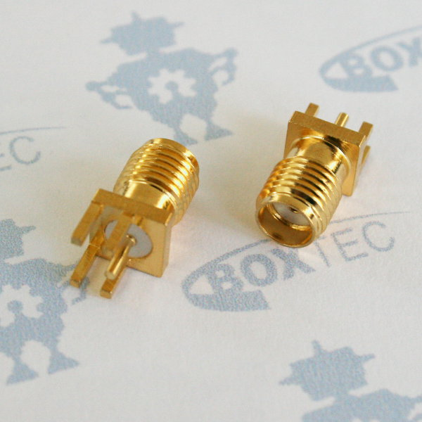SMA PCB RF Antenna Connector (F) - edge-mount