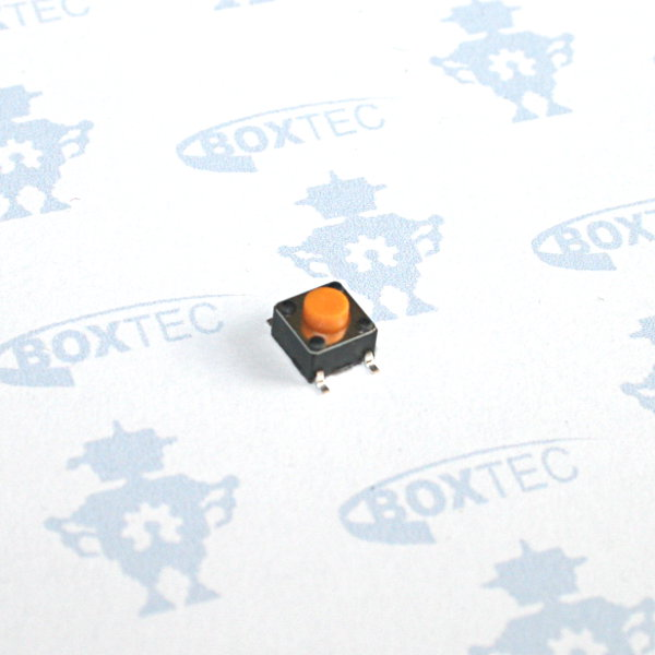 Mini Momentary Push Button Switch SMD (orange) - 6x6mm