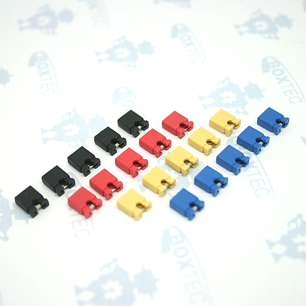 Jumper 2.54mm, 4 colours - 20 pcs