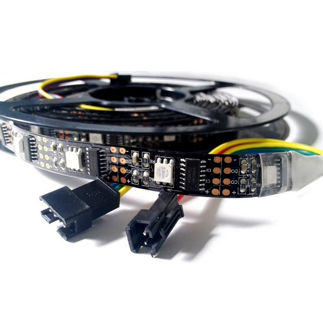 LED Pixel Strip 5m (WS2801 - schwarzes PCB) 32LED/m