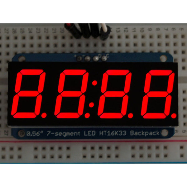 "7-Segment I2C Display 0.56"" 4-Digit - Red"