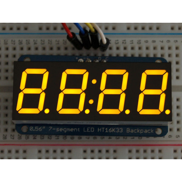 "7-Segment I2C Display 0.56"" 4-Digit - Yellow"