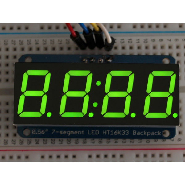 "7-Segment I2C Display 0.56"" 4-Digit - Green"