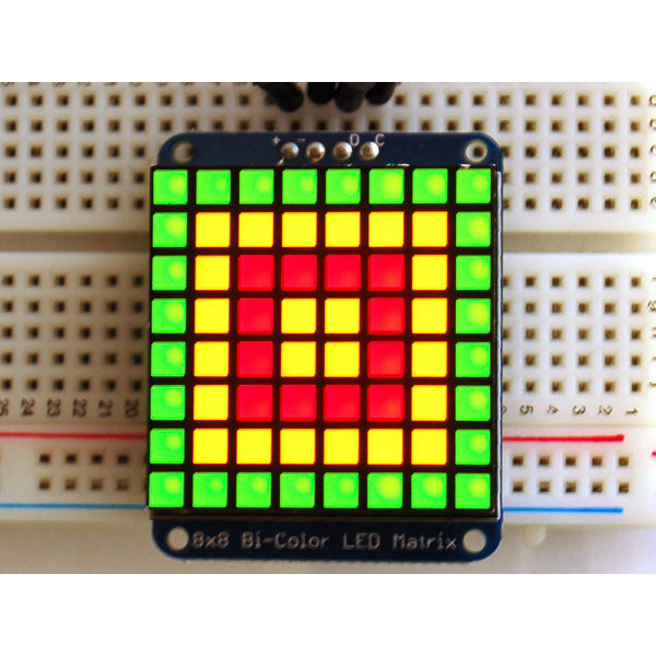 Bicolor Quadrat LED Pixel Matrix mit I2C Backpack