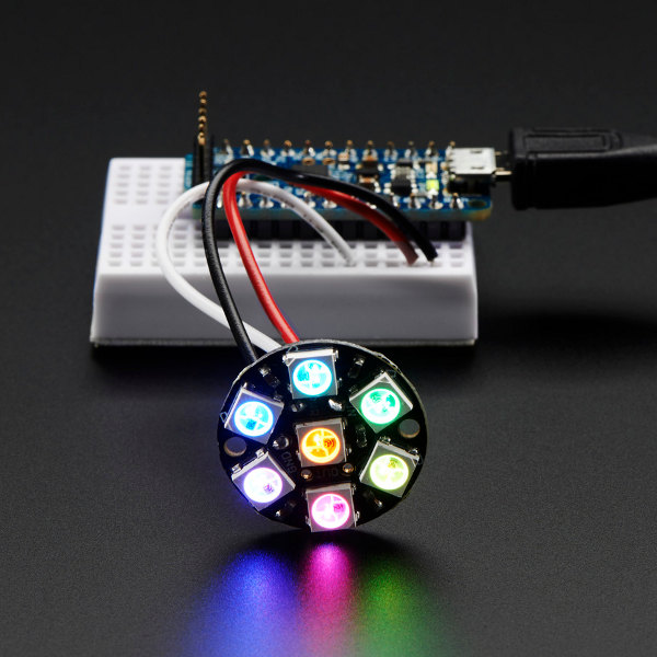 NeoPixel Jewel - 7 x 5050 RGB LED w/ integrated drivers