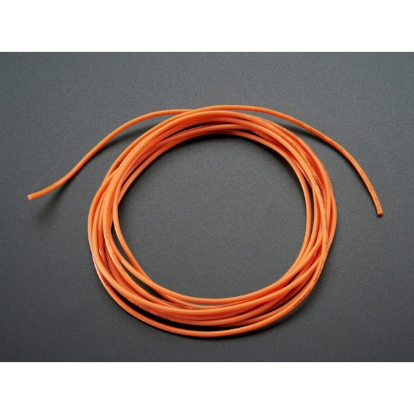Litze mit Silikon-Isolation - 2m 26AWG Orange
