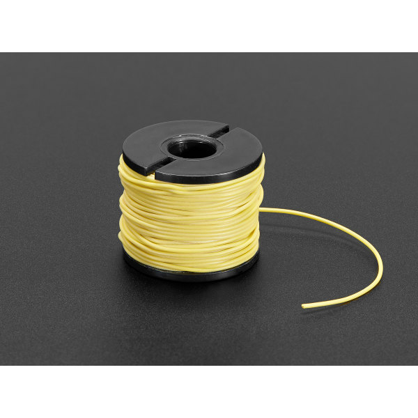 Silicone Cover Stranded-Core Wire - 15.2m 30AWG Yellow
