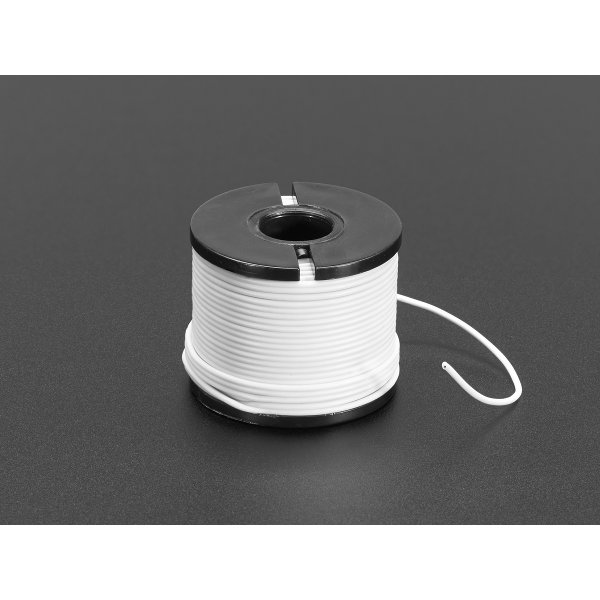 Litze mit Silikon-Isolation - 15.2m 30AWG Weiss