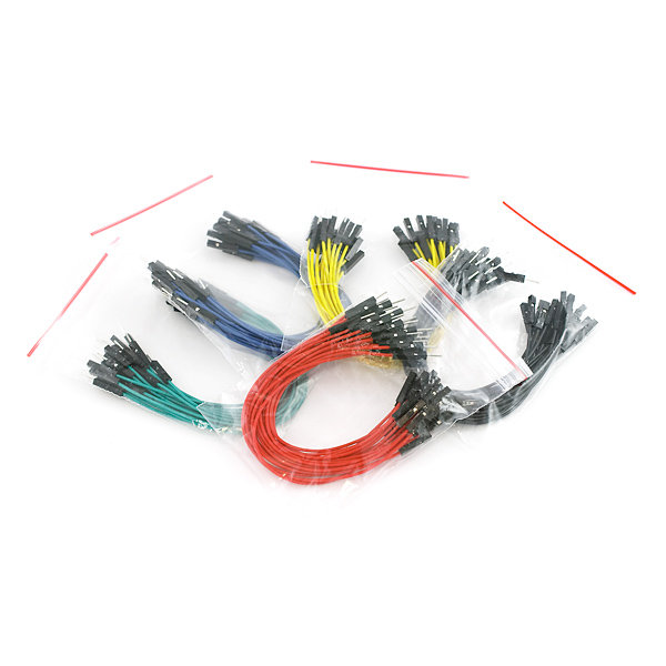 "Jumper Wires Premium 6"" M/F (100pcs)"